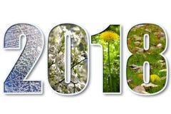 2018 νέο έτος απεικόνιση αποθεμάτων