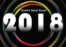 Νέο έτος 2018 Στοκ εικόνα με δικαίωμα ελεύθερης χρήσης