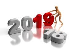 Νέο έτος 2019 Ελεύθερη απεικόνιση δικαιώματος