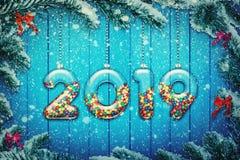 Νέο έτος 2019 στοκ φωτογραφία με δικαίωμα ελεύθερης χρήσης