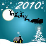 νέο έτος 2010 μπλε chirstmas ελεύθερη απεικόνιση δικαιώματος