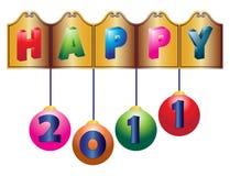 νέο έτος 2011 χαιρετισμών Στοκ Φωτογραφία