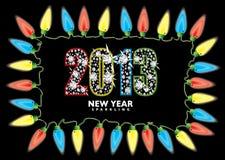 Νέο έτος 2013 φω'τα νεράιδων Στοκ Εικόνες