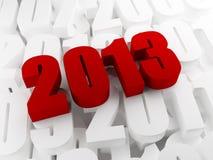 Νέο έτος 2013 Στοκ εικόνα με δικαίωμα ελεύθερης χρήσης
