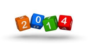 Νέο έτος 2014 Στοκ Εικόνα