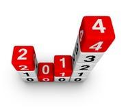 Νέο έτος 2014 Στοκ Φωτογραφία