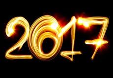 Νέο έτος 2017 ελεύθερη απεικόνιση δικαιώματος