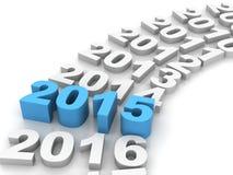 Νέο έτος 2014 διανυσματική απεικόνιση