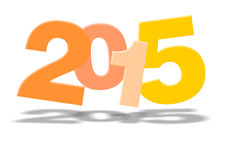 Νέο έτος 2015 Στοκ εικόνα με δικαίωμα ελεύθερης χρήσης