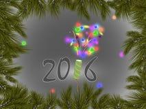 Νέο έτος 2016 Στοκ εικόνα με δικαίωμα ελεύθερης χρήσης