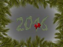 Νέο έτος 2016 Στοκ φωτογραφία με δικαίωμα ελεύθερης χρήσης