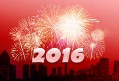 Νέο έτος 2016 Στοκ εικόνες με δικαίωμα ελεύθερης χρήσης