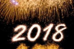2018 νέο έτος Στοκ Φωτογραφία