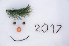 2017 νέο έτος Στοκ Εικόνες