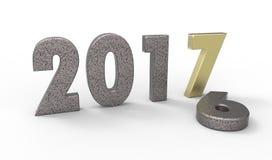 Νέο έτος 2017 Στοκ εικόνες με δικαίωμα ελεύθερης χρήσης