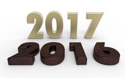 Νέο έτος 2017 Στοκ φωτογραφίες με δικαίωμα ελεύθερης χρήσης