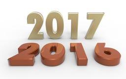 Νέο έτος 2017 Στοκ εικόνα με δικαίωμα ελεύθερης χρήσης