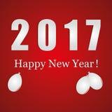 Νέο έτος 2017 διανυσματική απεικόνιση
