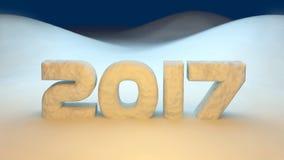 2017 νέο έτος Στοκ Εικόνα