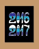2017 - Νέο έτος Στοκ Φωτογραφίες