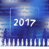 Νέο έτος 2017 Στοκ φωτογραφία με δικαίωμα ελεύθερης χρήσης