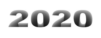 2020 νέο έτος Στοκ Εικόνα