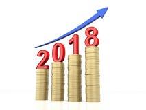 Νέο έτος 2018 Στοκ Εικόνα
