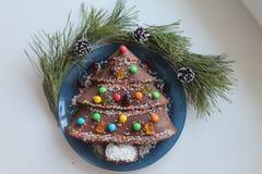 Νέο έτος cupcake στοκ εικόνες με δικαίωμα ελεύθερης χρήσης