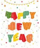 Νέο έτος flayer deisgn Ελεύθερη απεικόνιση δικαιώματος