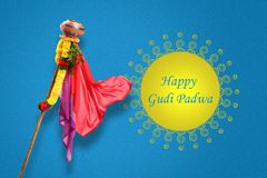 Νέο έτος Padwa Marathi Gudi Στοκ Εικόνες