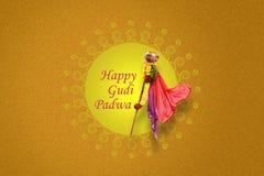 Νέο έτος Padwa Marathi Gudi Στοκ εικόνες με δικαίωμα ελεύθερης χρήσης