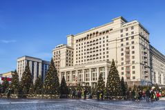 Νέο έτος ` s Μόσχα Ταξίδι φεστιβάλ ` στα Χριστούγεννα ` Δάσος νεράιδων στην πλατεία Manege Στοκ Εικόνα