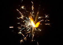Νέο έτος ` s sparkler Στοκ εικόνα με δικαίωμα ελεύθερης χρήσης