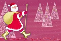 νέο έτος santa Claus Χριστουγέννων διανυσματική απεικόνιση