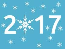 Νέο έτος 2017, snowflake ελεύθερη απεικόνιση δικαιώματος