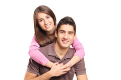 Νέο αγκάλιασμα ζευγών αγάπης στοκ εικόνες
