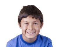 Νέο αγόρι με το ασβεστοκονίαμα στο μέτωπο στοκ φωτογραφία
