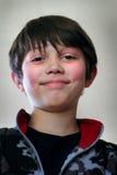Νέο αγόρι προσώπου κινηματογραφήσεων σε πρώτο πλάνο Στοκ Φωτογραφίες