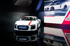 Νέο αθλητικό αυτοκίνητο Audi R8 V10 RWS Στοκ εικόνα με δικαίωμα ελεύθερης χρήσης
