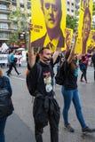 Νέο αρσενικό protestor στοκ εικόνες