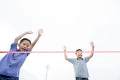 Νέο ασιατικό τρέξιμο αγοριών Στοκ Εικόνες