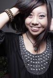 Νέο ασιατικό χαμόγελο γυναικών Στοκ φωτογραφία με δικαίωμα ελεύθερης χρήσης