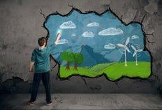 Νέο αστικό σχέδιο ζωγράφων Στοκ φωτογραφίες με δικαίωμα ελεύθερης χρήσης