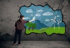 Νέο αστικό σχέδιο ζωγράφων Στοκ εικόνες με δικαίωμα ελεύθερης χρήσης