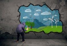 Νέο αστικό σχέδιο ζωγράφων Στοκ φωτογραφία με δικαίωμα ελεύθερης χρήσης