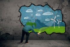 Νέο αστικό σχέδιο ζωγράφων Στοκ Εικόνες