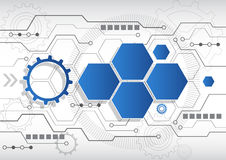 Νέο αφηρημένο επιχειρησιακό υπόβαθρο τεχνολογίας, διανυσματική απεικόνιση Στοκ Εικόνες
