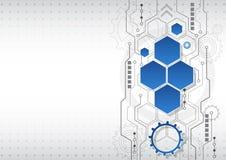 Νέο αφηρημένο επιχειρησιακό υπόβαθρο τεχνολογίας, διανυσματική απεικόνιση Στοκ Φωτογραφίες