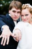 Νέο γαμήλιο ζεύγος στοκ εικόνες