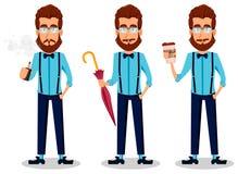 Νέο γενειοφόρο άτομο hipster στα γυαλιά Στοκ Εικόνες